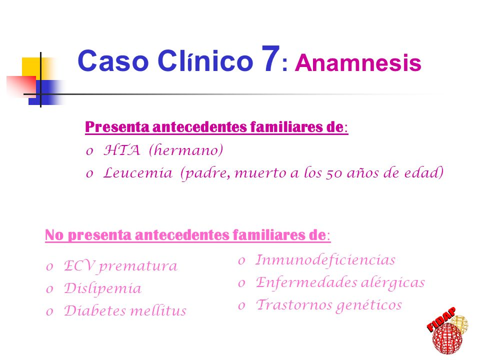 Caso Clínico 7: Anamnesis