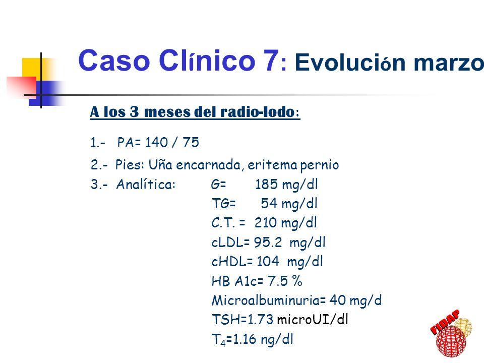 Caso Clínico 7: Evolución marzo-2001