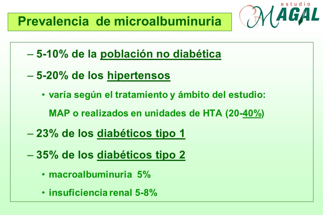 Prevalencia de microalbuminuria