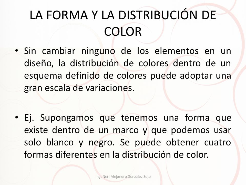 LA FORMA Y LA DISTRIBUCIÓN DE COLOR