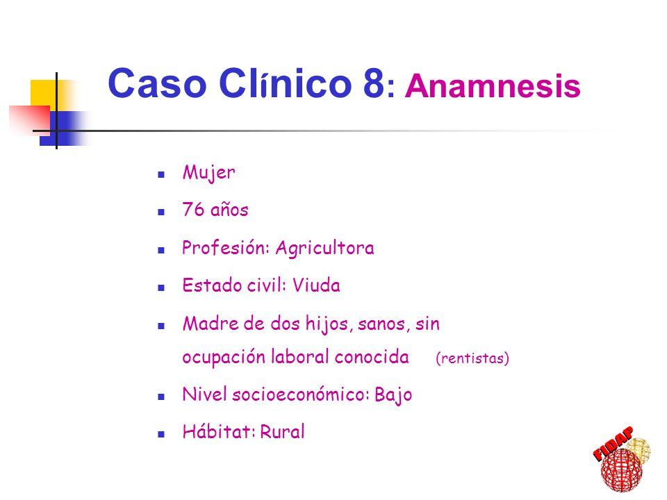 Caso Clínico 8: Anamnesis