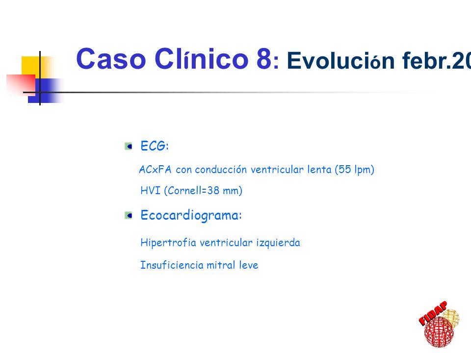 Caso Clínico 8: Evolución febr.2001