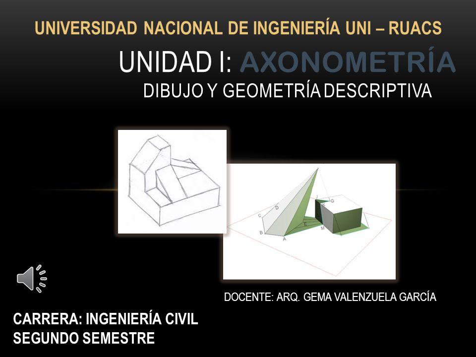 Unidad i: axonometría dibujo y geometría descriptiva