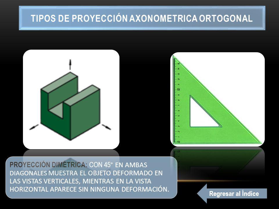 TIPOS DE PROYECCIÓN AXONOMETRICA ORTOGONAL