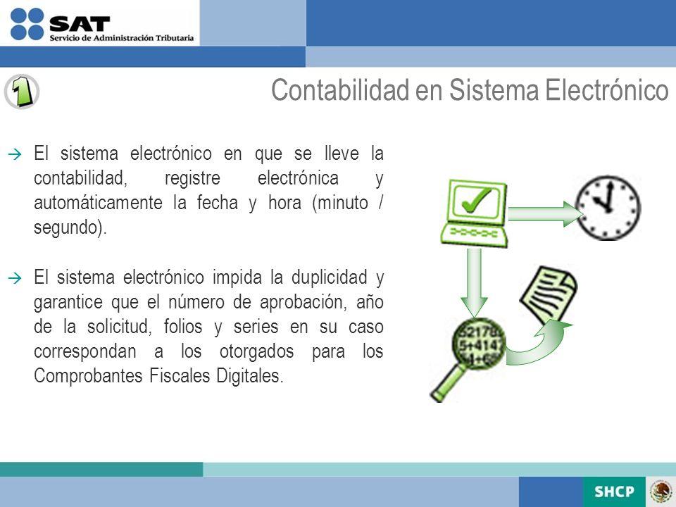 Contabilidad en Sistema Electrónico