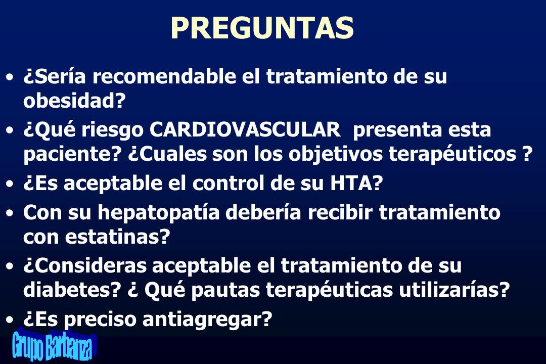 PREGUNTAS ¿Sería recomendable el tratamiento de su obesidad