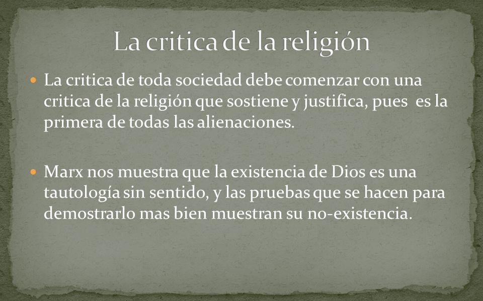 La critica de la religión
