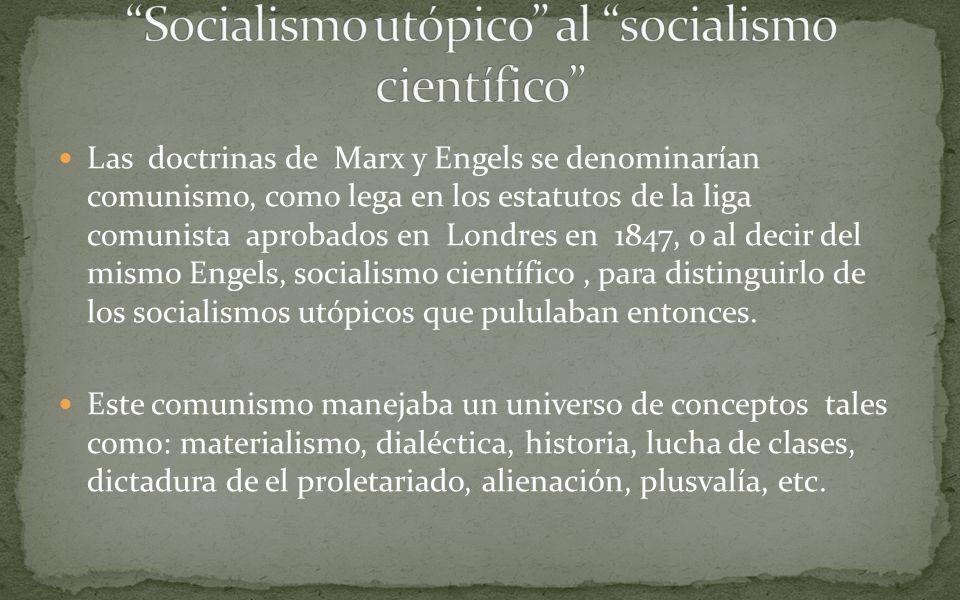 Socialismo utópico al socialismo científico