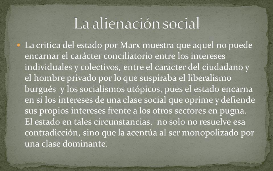 La alienación social