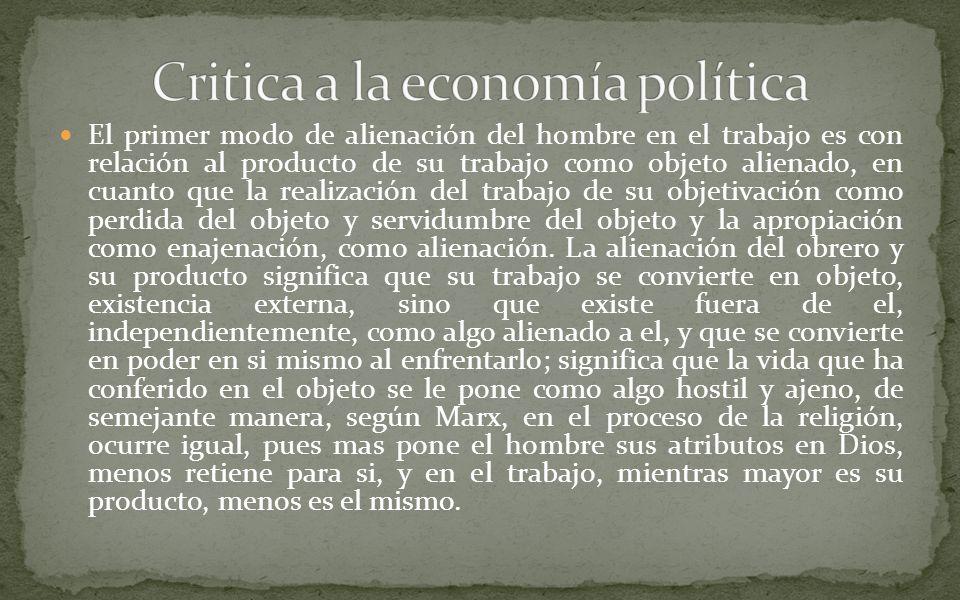 Critica a la economía política