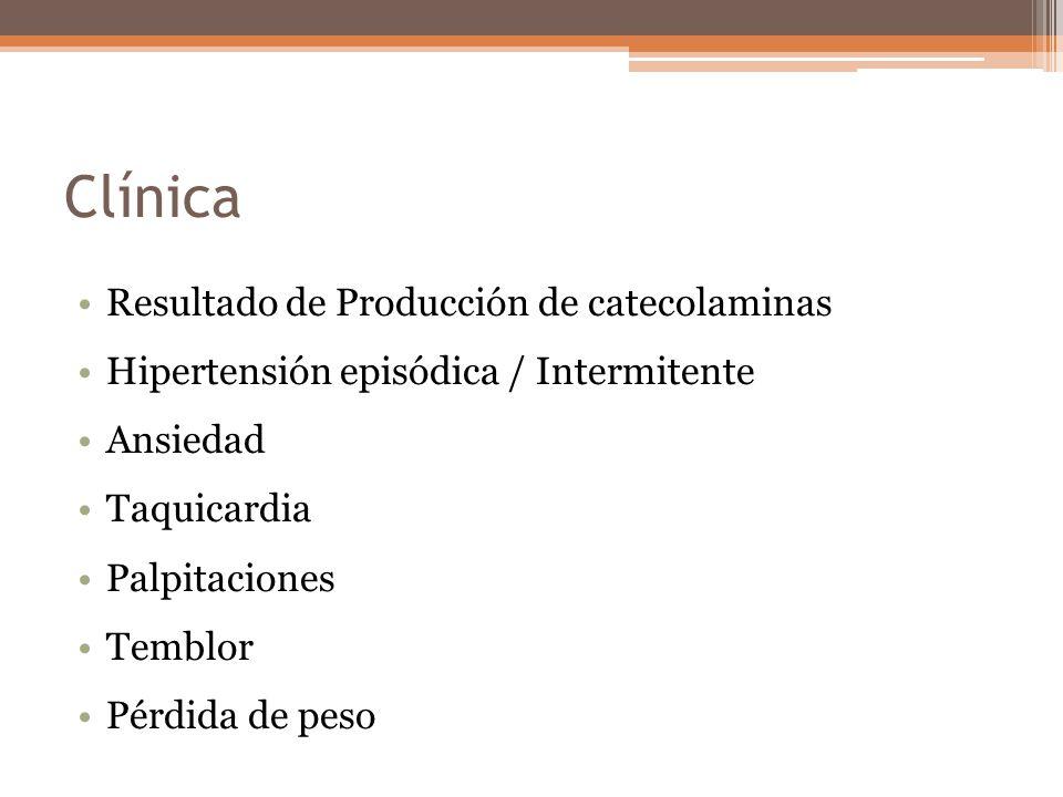 Clínica Resultado de Producción de catecolaminas