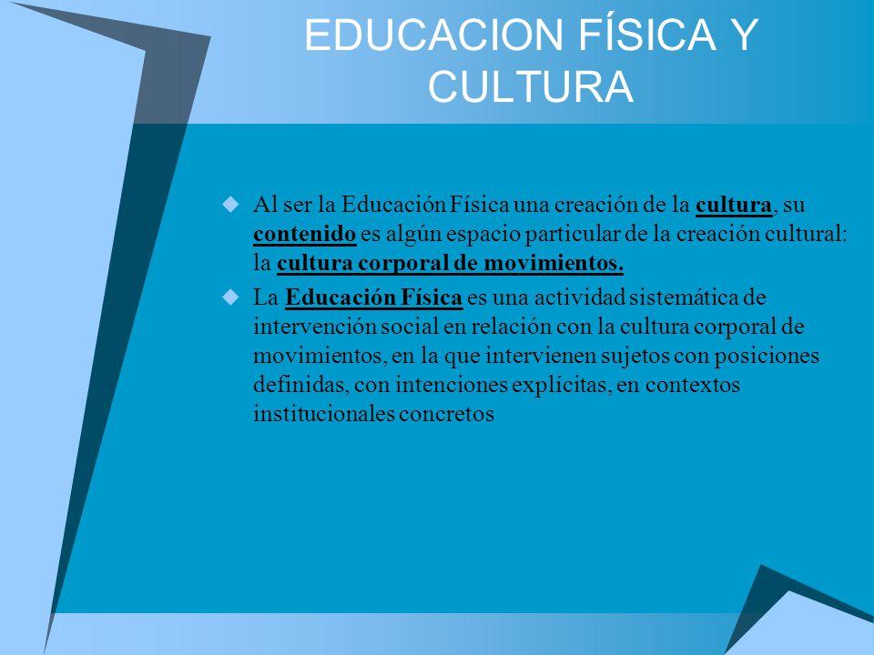 EDUCACION FÍSICA Y CULTURA