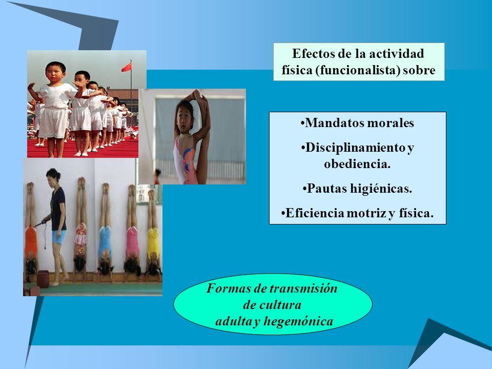 Efectos de la actividad física (funcionalista) sobre