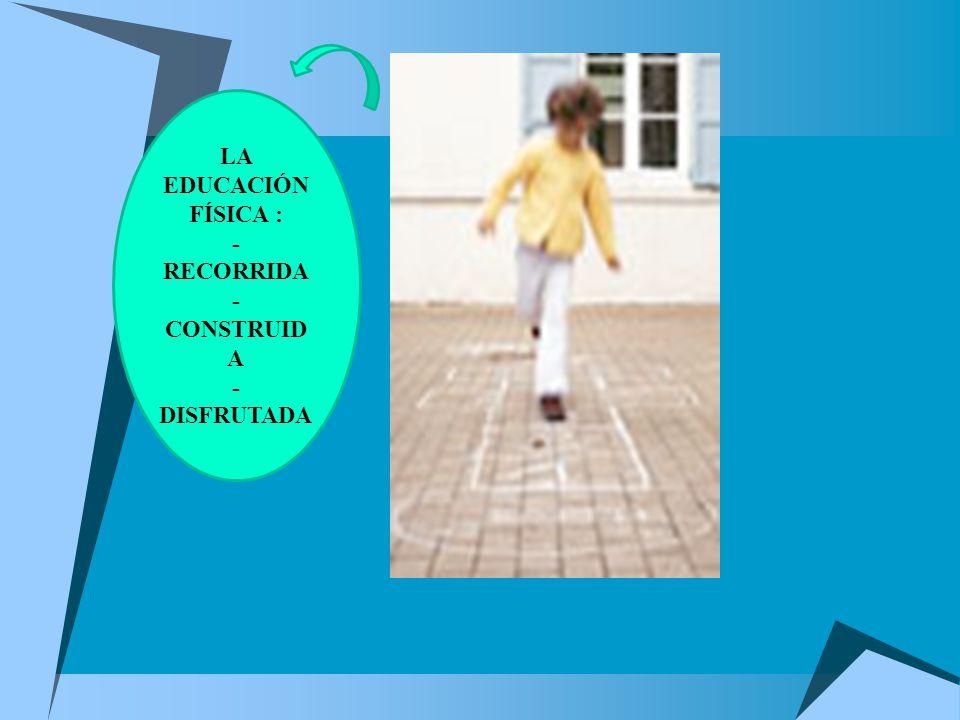 LA EDUCACIÓN FÍSICA : -RECORRIDA -CONSTRUIDA -DISFRUTADA