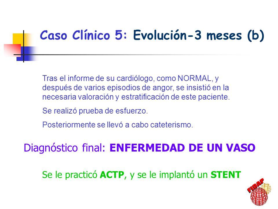 Caso Clínico 5: Evolución-3 meses (b)