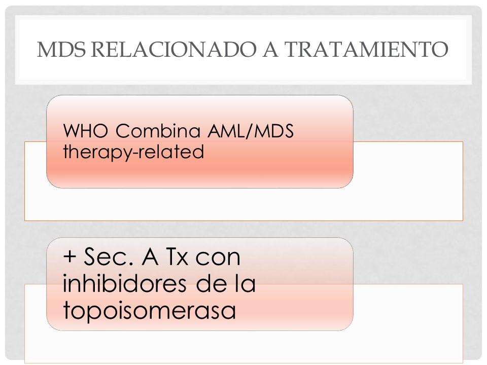 MDS Relacionado a tratamiento