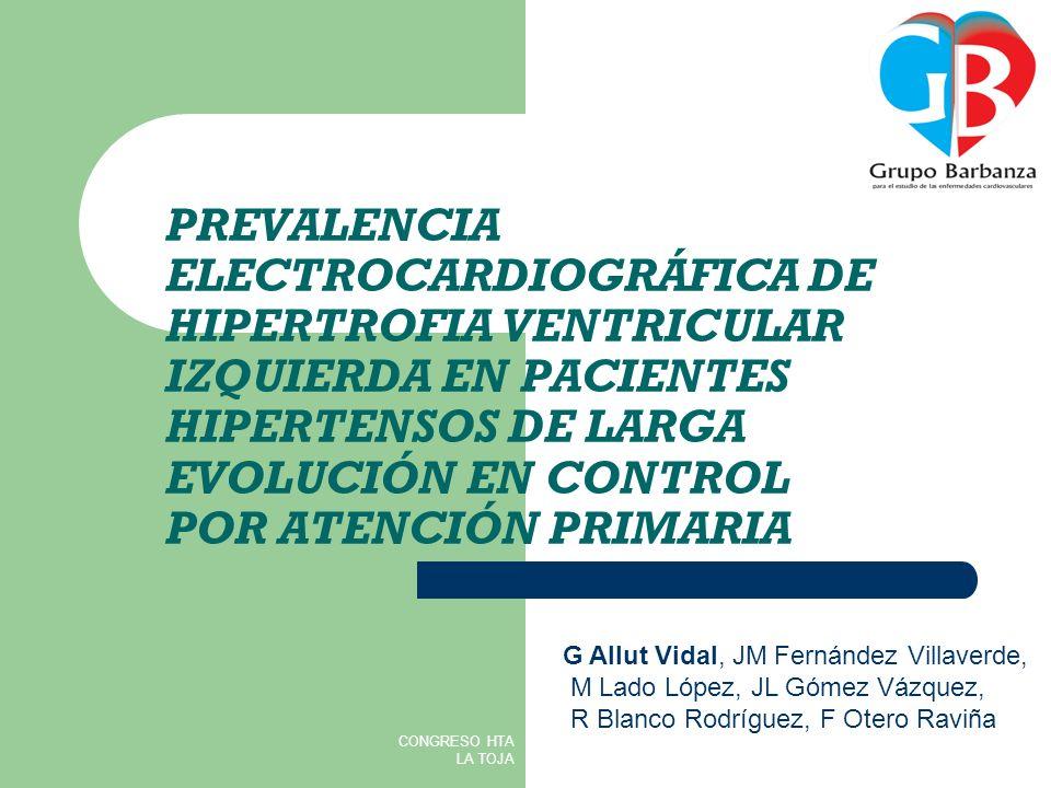 PREVALENCIA ELECTROCARDIOGRÁFICA DE HIPERTROFIA VENTRICULAR IZQUIERDA EN PACIENTES HIPERTENSOS DE LARGA EVOLUCIÓN EN CONTROL POR ATENCIÓN PRIMARIA