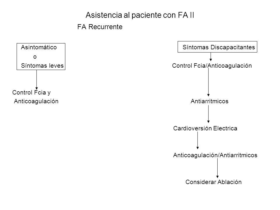 Asistencia al paciente con FA II