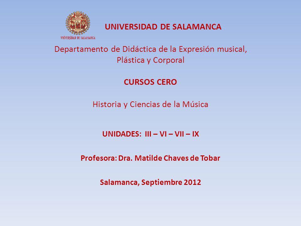 UNIDADES: III – VI – VII – IX Profesora: Dra. Matilde Chaves de Tobar