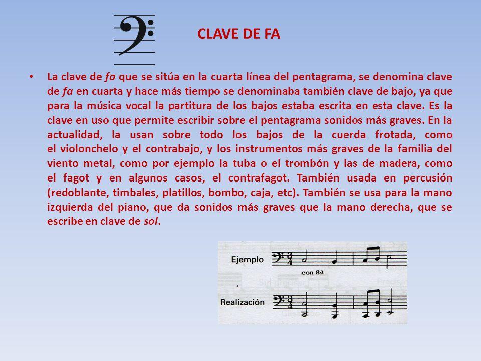 CLAVE DE FA