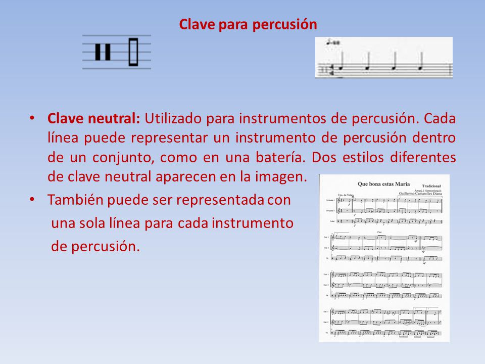 Clave para percusión