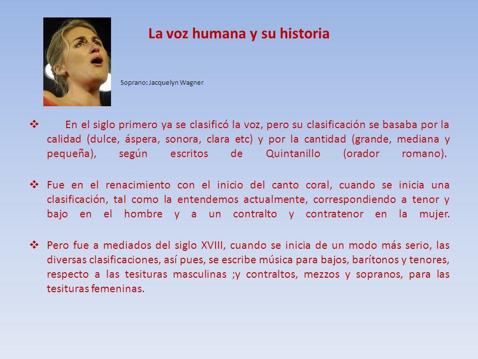 La voz humana y su historia