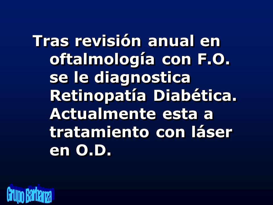 Tras revisión anual en oftalmología con F. O