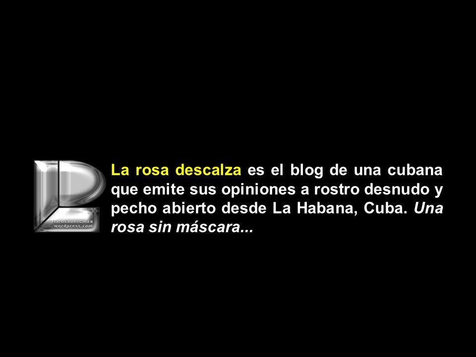 La rosa descalza es el blog de una cubana que emite sus opiniones a rostro desnudo y pecho abierto desde La Habana, Cuba.
