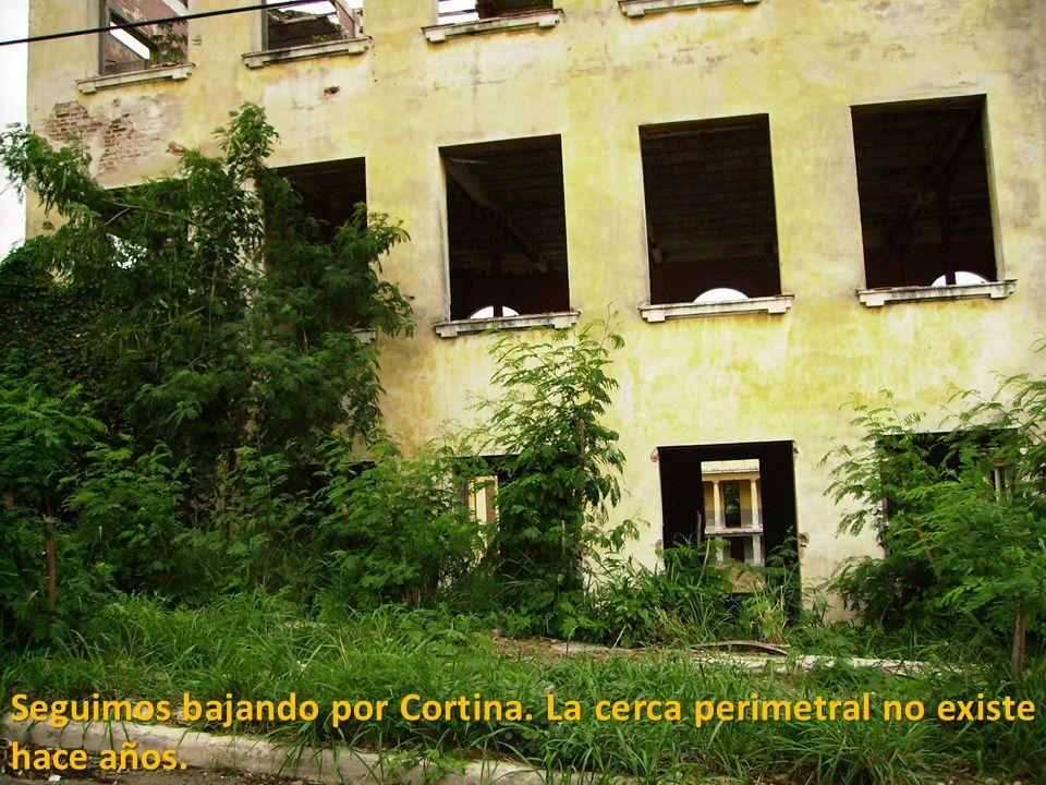 Seguimos bajando por Cortina. La cerca perimetral no existe hace años.