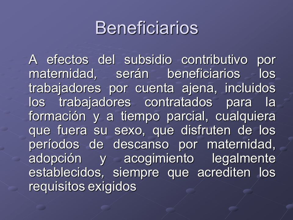 Beneficiarios