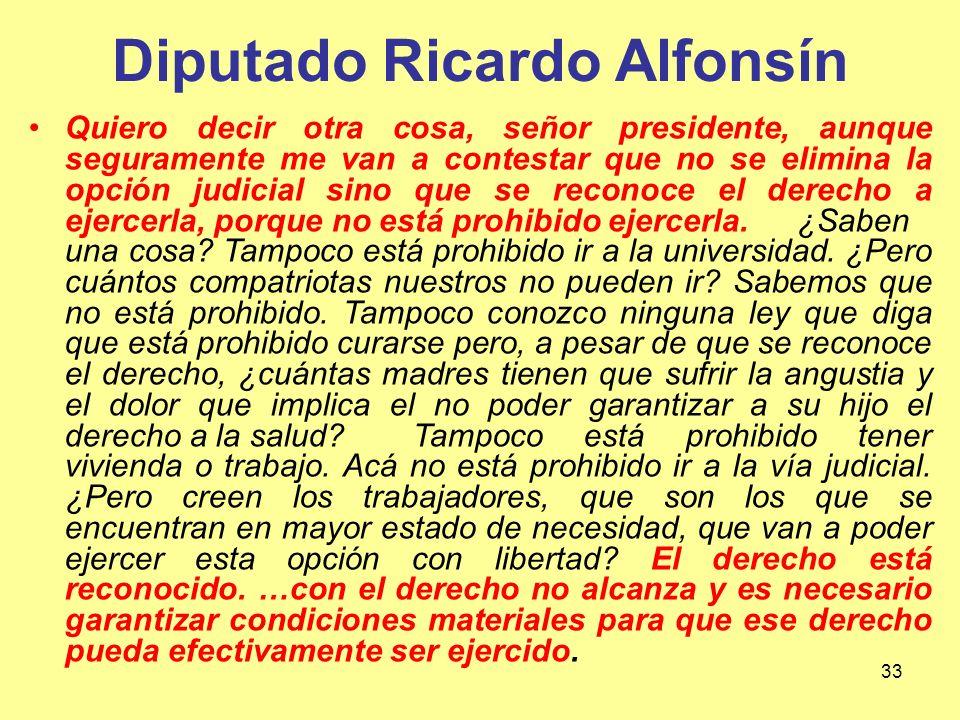 Diputado Ricardo Alfonsín