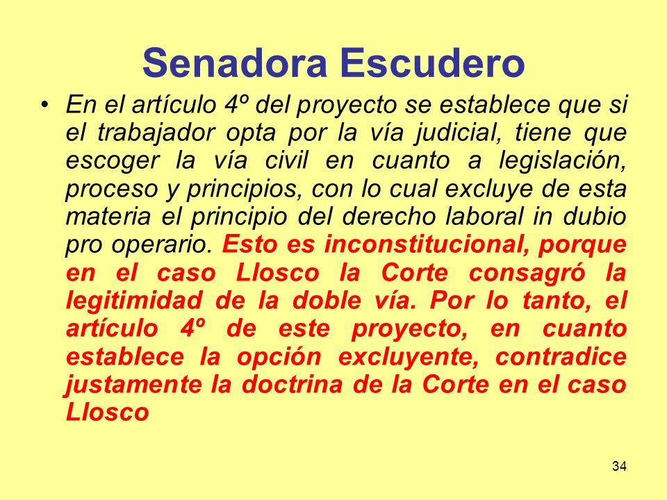 Senadora Escudero