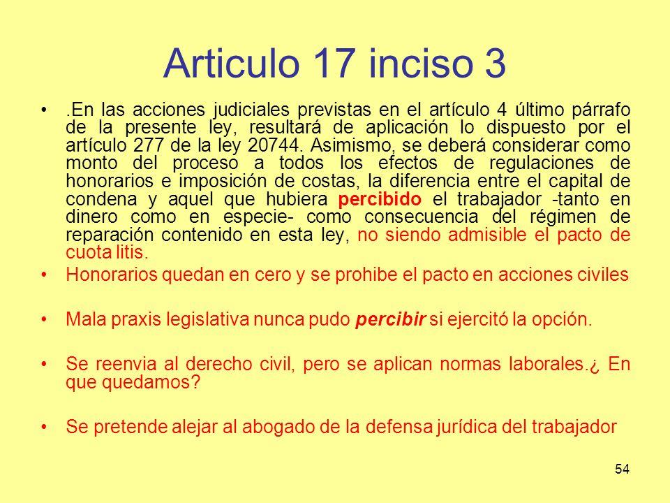 Articulo 17 inciso 3