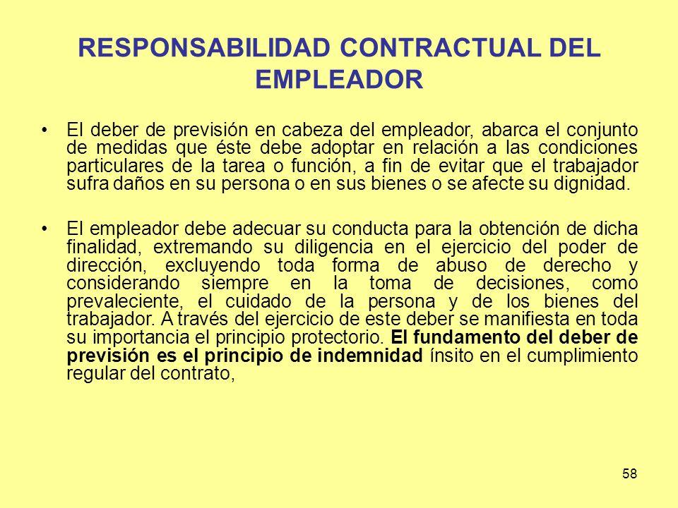 RESPONSABILIDAD CONTRACTUAL DEL EMPLEADOR