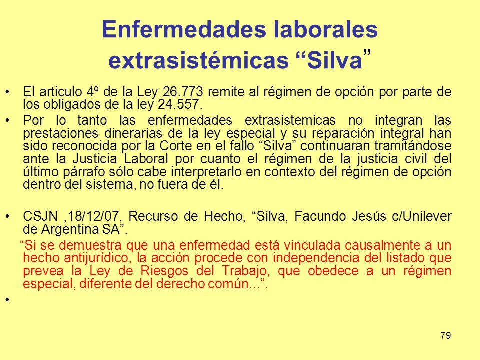 Enfermedades laborales extrasistémicas Silva