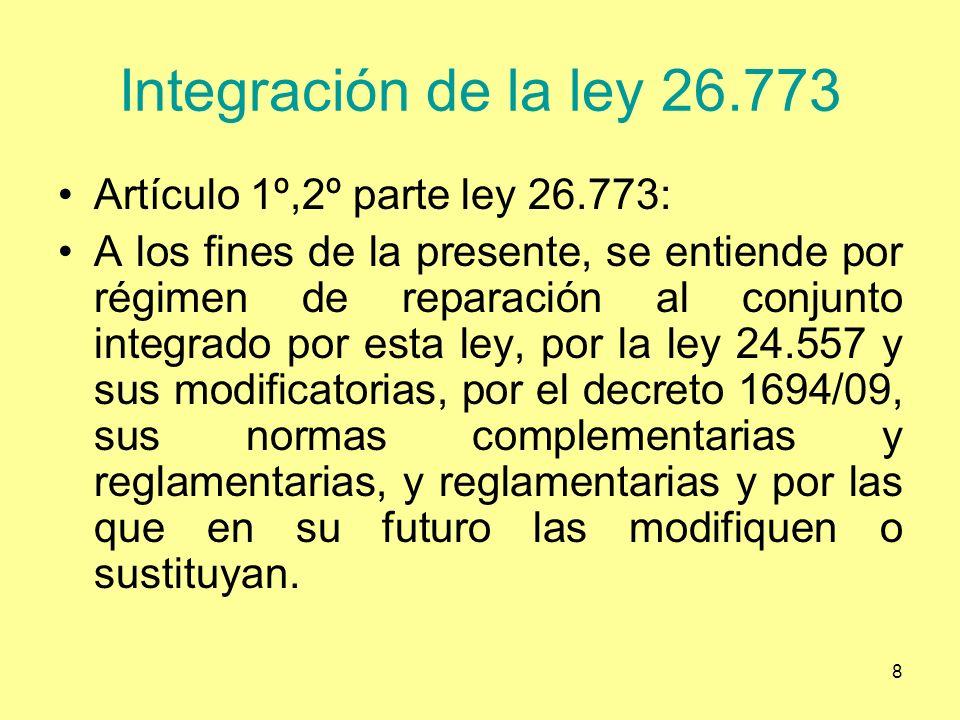 Integración de la ley 26.773 Artículo 1º,2º parte ley 26.773: