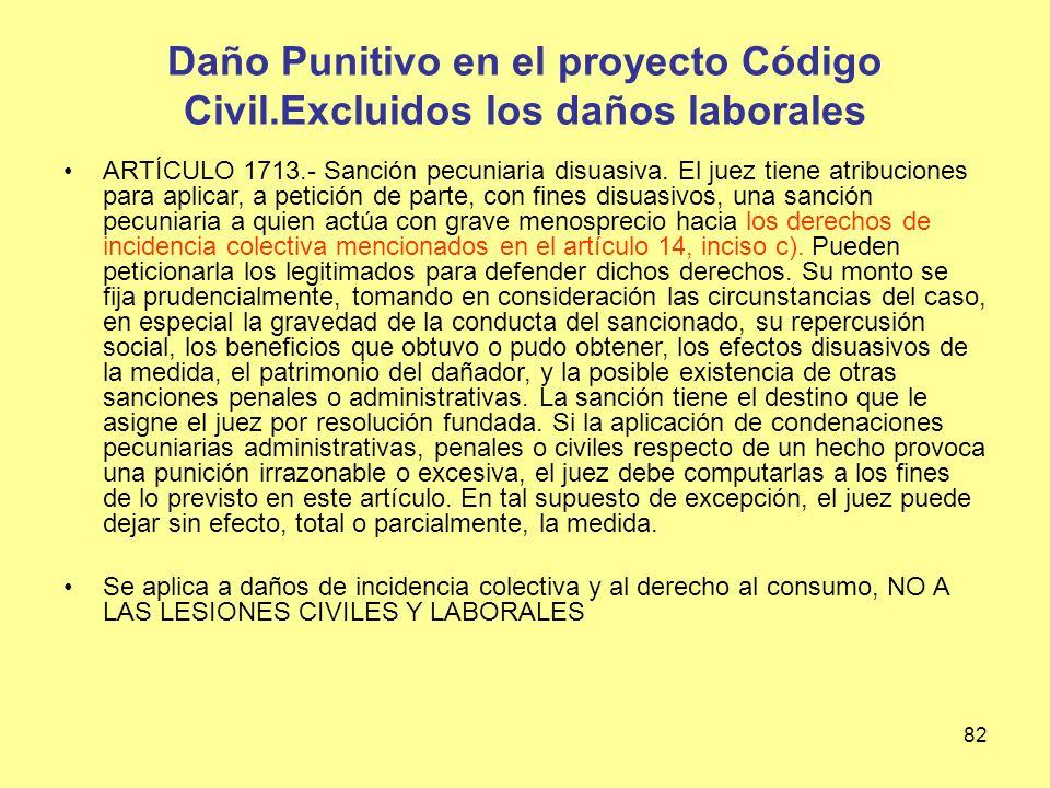 Daño Punitivo en el proyecto Código Civil
