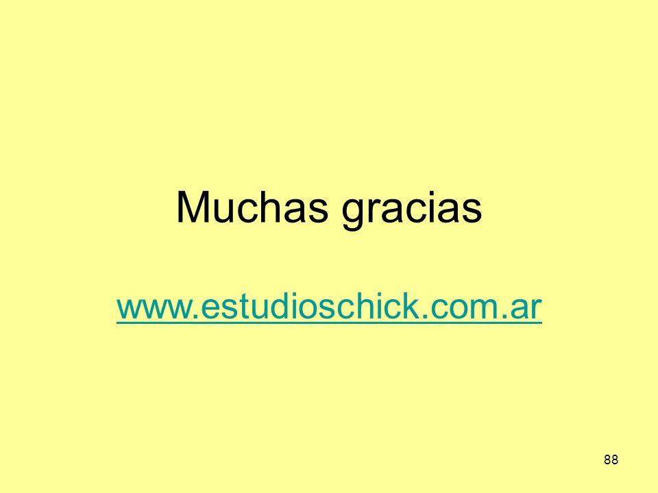 Muchas gracias www.estudioschick.com.ar