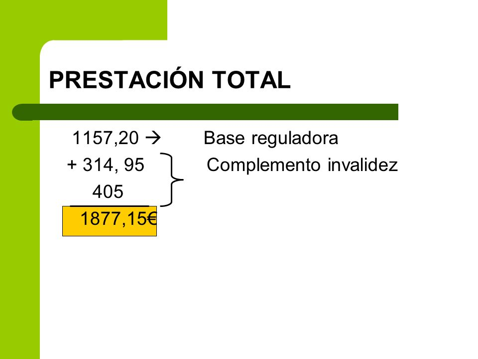 PRESTACIÓN TOTAL 1157,20  Base reguladora