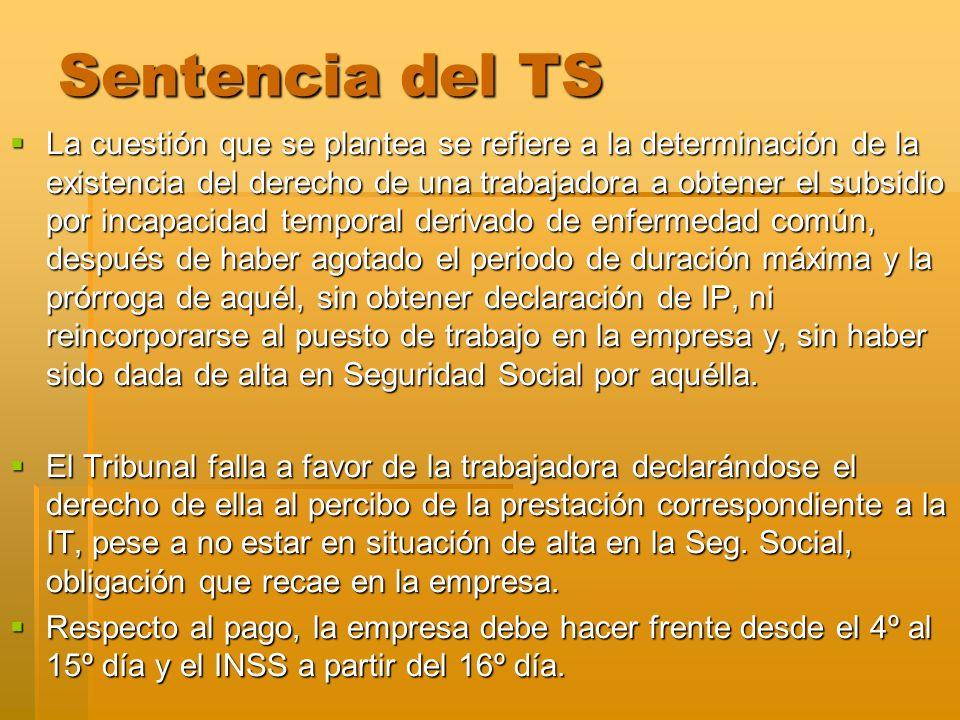 Sentencia del TS