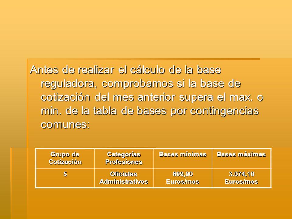 Categorías Profesiones Oficiales Administrativos