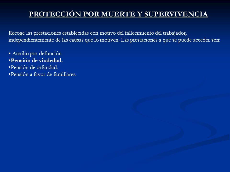 PROTECCIÓN POR MUERTE Y SUPERVIVENCIA