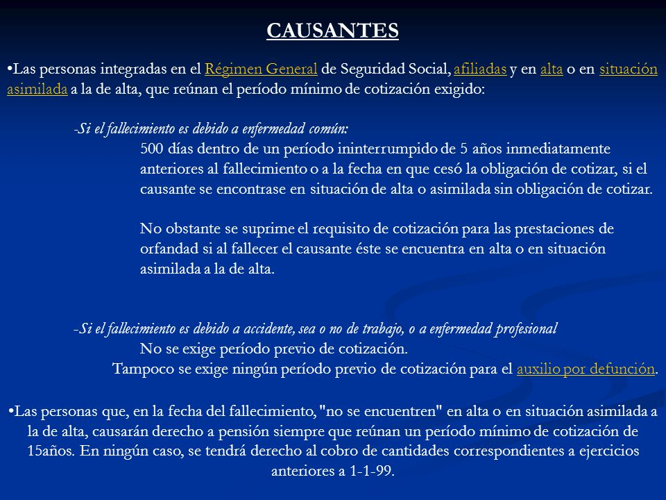 CAUSANTES