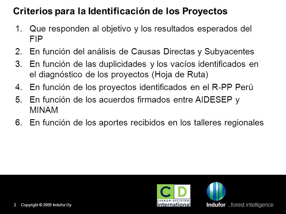 Criterios para la Identificación de los Proyectos