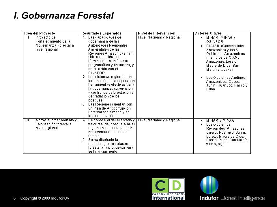I. Gobernanza Forestal Copyright © 2009 Indufor Oy