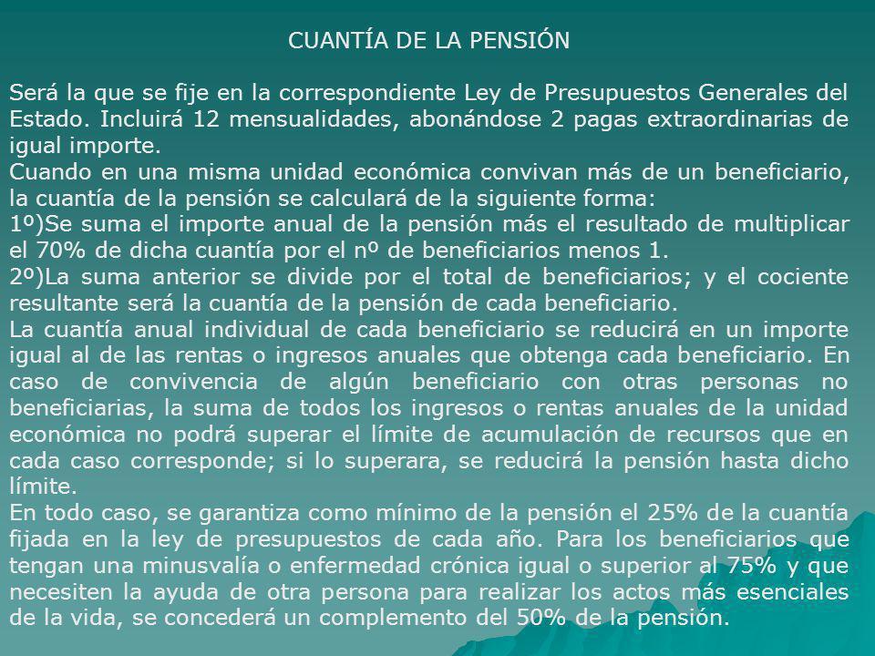 CUANTÍA DE LA PENSIÓN