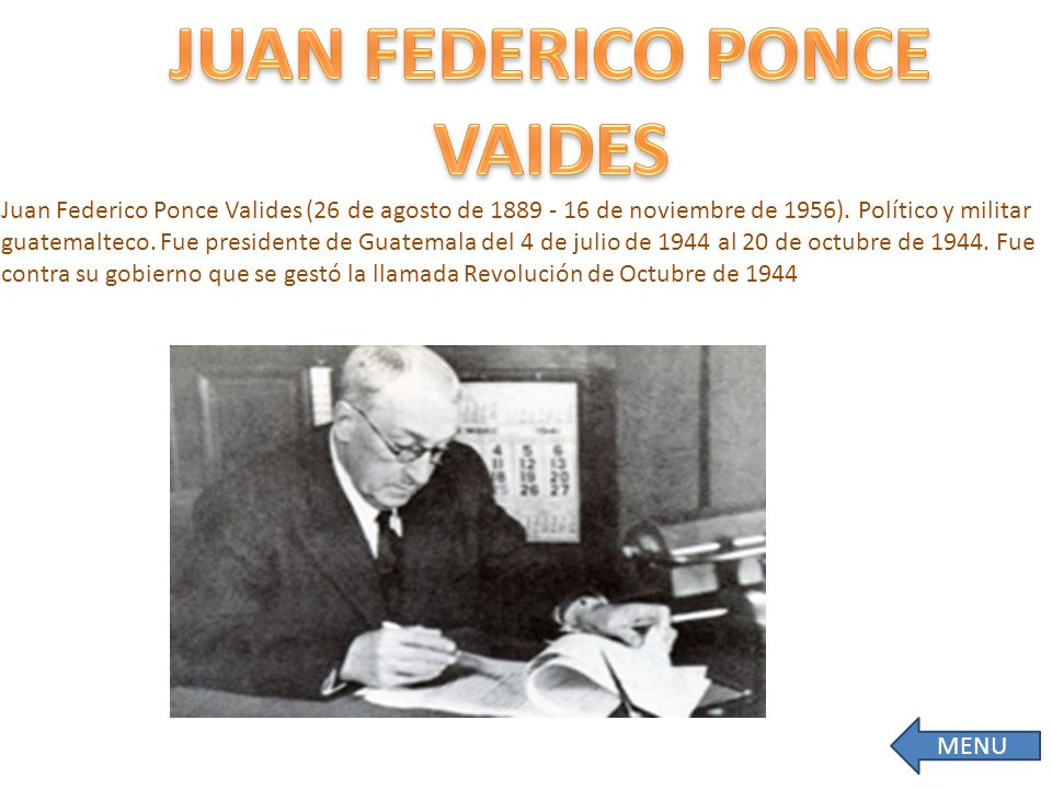 JUAN FEDERICO PONCE VAIDES