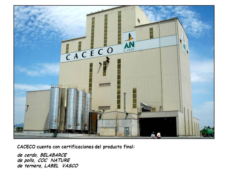 CACECO cuenta con certificaciones del producto final: