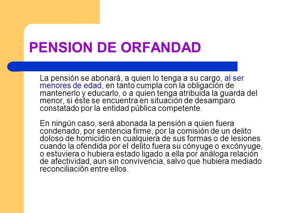 PENSION DE ORFANDAD