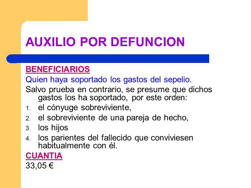 AUXILIO POR DEFUNCION BENEFICIARIOS